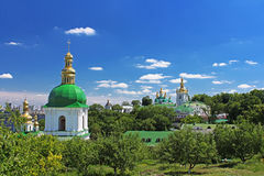 On the territory of famous Pechersk Lavra Monastery in Kyiv, Ukr royalty free stock photos