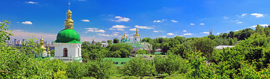 On the territory of famous Pechersk Lavra Monastery Royalty Free Stock Photo
