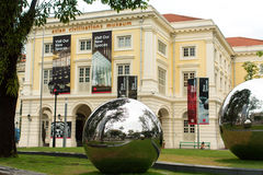 On territory in front of Asian Civilizations Museum. Royalty Free Stock Photos