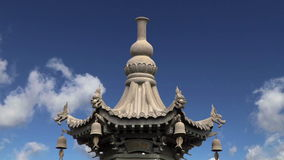 On the territory Giant Wild Goose Pagoda or Big Wild Goose Pagoda, is a Buddhist pagoda located in southern Xian,  China stock video footage
