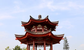 On the territory Giant Wild Goose Pagoda, Xian (Sian, Xi'an), China Royalty Free Stock Image