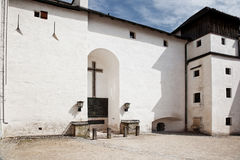 On the territory of Hohensalzburg castle Stock Photography