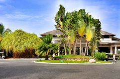 Territory of Hotel Catalonia Royal Bavaro in Dominican Republic. Stock Images
