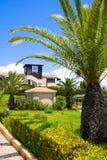 Territory of hotel, Greece, Peloponnese Stock Photos