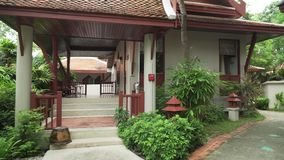 Territory of hotel Samui Buri Beach Resort stock footage video stock video footage