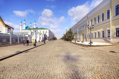 The territory of the Kazan Kremlin Stock Photography