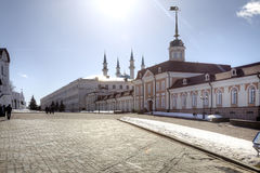 The territory of the Kazan Kremlin Stock Photo