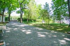 Territory of the memorial - The grave Taras Shevchenko. Territory of the memorial - The grave of Ukrainian poet Taras Shevchenko in Kanev on the Black Mountains Stock Images