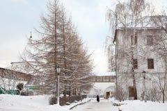 On the territory of the monastery Novospassky Royalty Free Stock Photography