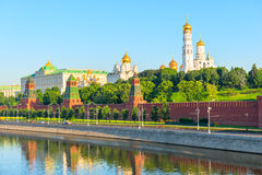 Territory  of Moscow Kremlin Royalty Free Stock Photos