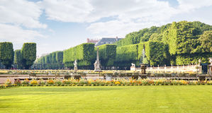 Territory of park of the Luxemburg palace. Park complex  next to the Luxemburg palace Stock Image