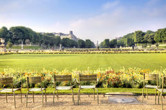 Territory of park of the Luxemburg palace Stock Images