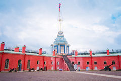On territory of the Peter and Paul fortress Stock Image