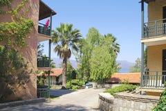 On territory of resort hotel Stock Photo