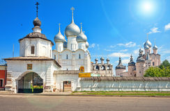 The territory of the Rostov Kremlin. Royalty Free Stock Photos