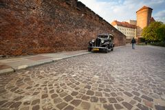 On territory of Royal palace in Wawel Stock Photo