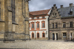 On the territory of Saint Vitus Cathedral, Prague. HDR Royalty Free Stock Photos