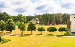 The territory of the sanatorium. Druskininkai, Lithuania Stock Photos