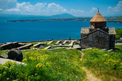 Territory Sevanavank monastery on Sevan lake, Armenia. Photo of the Territory Sevanavank monastery on Sevan lake, Armenia royalty free stock images