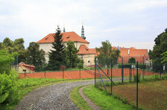 Territory of Strahov Monastery Stock Image