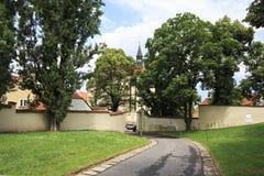 Territory of Strahov Monastery Royalty Free Stock Image