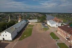 Territory Verkhoturye Kremlin. Verkhoturye. Sverdlovsk region. Russia. Stock Photos