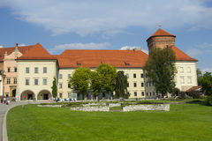 Territory of the Wawel castle Stock Photos