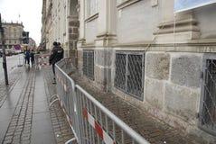 巴黎TERROER被攻击的_FRENCH使馆在哥本哈根 免版税库存图片