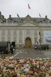 巴黎TERROER被攻击的_FRENCH使馆在哥本哈根 库存图片