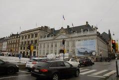 巴黎TERROER被攻击的_FRENCH使馆在哥本哈根 免版税图库摄影