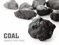 Terrones del carbón Foto de archivo libre de regalías