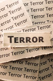 Terror. Picture of a word terror Stock Images