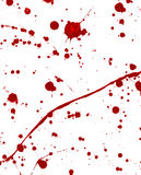 Terror. Blood splattered on white surface Royalty Free Stock Photos