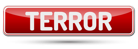 TERROR - Abstract beautiful button with text. Royalty Free Stock Photography