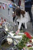 TERROR IN ANGRIFF GENOMMEN IN PARIS_COPENHAGEN DÄNEMARK Lizenzfreies Stockbild