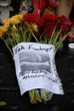 TERROR IN ANGRIFF GENOMMEN IN PARIS_COPENHAGEN DÄNEMARK Lizenzfreies Stockfoto