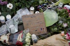 TERROR ATACADO EN PARIS_COPENHAGEN DINAMARCA Fotos de archivo libres de regalías