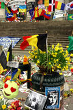 2016 terror attack memorial in Brussels Royalty Free Stock Photo