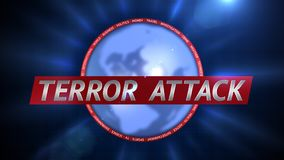 Terror Attack Title Background Plate. Terror Attack Basketball 3D Graphical Digital Background Stock Photos