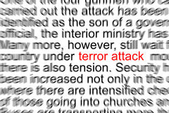 Terror Attack Royalty Free Stock Photography