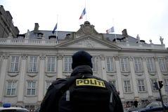 TERROR ATTACKED IN PARIS_COPENHAGEN DENMARK Royalty Free Stock Photo