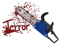 Terror chainsaw Royalty Free Stock Photo