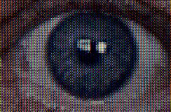 Terror Close-up Television Eye Stock Image