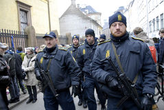 TERROR IN COPENHAGEN_SYNAGOGUE Royalty Free Stock Photos