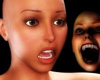 Terror del horror Fotografía de archivo libre de regalías