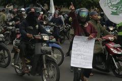 Terror do destacamento 88 da polícia do protesto da rejeição anti em Chester Indonesia Foto de Stock Royalty Free