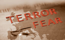 Terror fear in Europe Stock Images