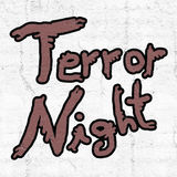 Terror nihgt icon. Creative design of Terror nihgt icon Stock Photography