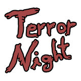 Terror nihgt icon Royalty Free Stock Photos