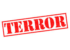 TERROR. Red Rubber Stamp over a white background Stock Photo